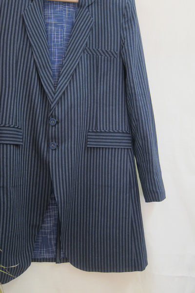 Charcoal Stripe Spring Trench