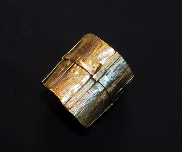 Copper hand beaten cuff
