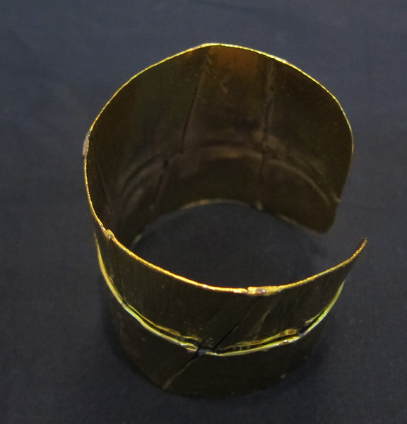 Gold plated brass cuff