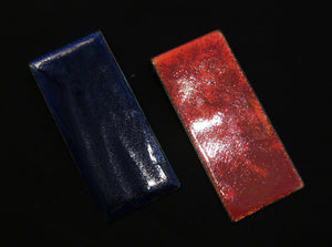 Hand enameled rectangular pendant