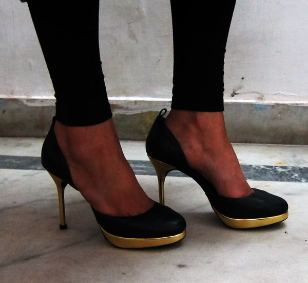 Black & Gold Stilettos