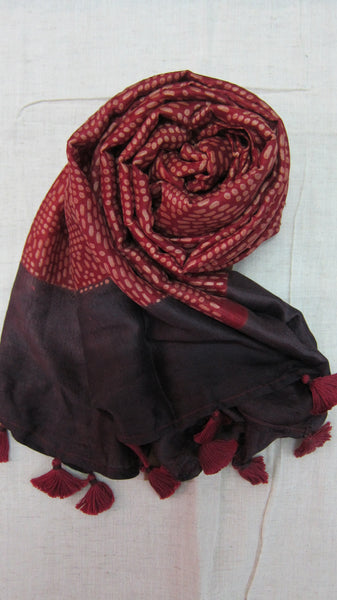 Mulberry silk hand printed stole