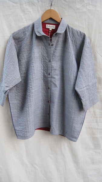 Quilted khadi shirt