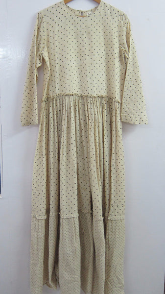 Khadi gauze tiered maxi dress