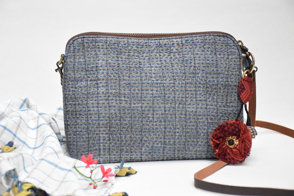 Evening Sling Gudri Bag Grey