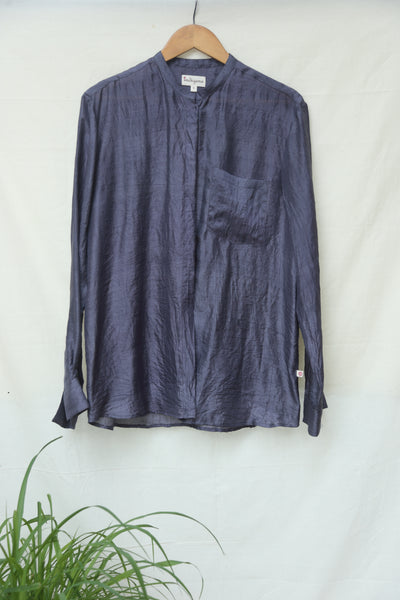 Basic mulberry silk shirt