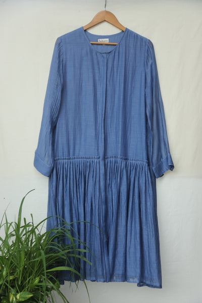 Ruffle waist button down dress