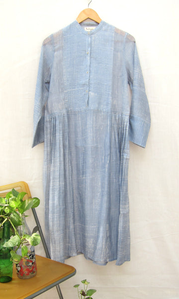 Pleated waist silk cotton kurta