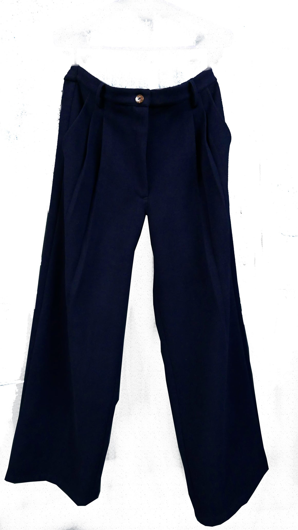 Shepheard Pleated Waist Brushed Merino Wool Pants