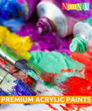 Acrylic Paints Set for Kids Adults Beginners - 24 x 12ml Acrylic Paint for Paper Canvas Wood Ceramic Fabric | Non Toxic for Children School Arts