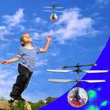 NimNik Flying Ball Mini Drone Kids Toy - Hand Controlled Infrared Induction RC Helicopter with Flashing UFO LED Lights | Fun Gadgets for Boys Girls Teenagers Adults | Indoor Outdoor Garden Games