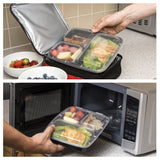 NimNik Meal Prep Container 3 Compartment - 10 Pack