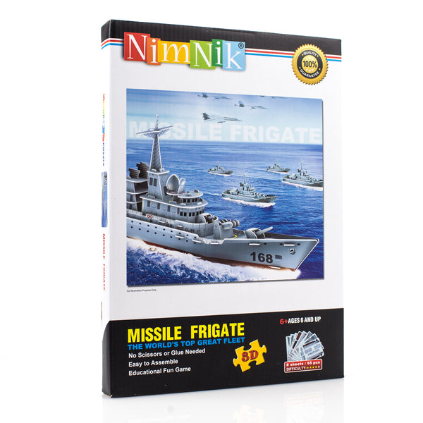 Educational Fun Construction Ships Frigate 3D Puzzles for Kids - 48 pcs