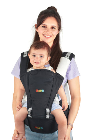 Baby Carrier Hip Seat Ergonomic Safe Backpack Front Multi-Position Baby Carrier (Black)