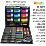 NimNik Art Sets For Kids Girls Boys - 150 Piece Creativity Art Drawing Set Gift Case for Children | Great Birthday Gifts Present For Girls Of All Ages