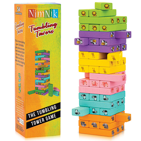 Tumbling Towers Jenga Family Fun Educational Games for Kids by 54 Pcs