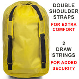 Stroller Travel Bag for Air Travel – Ultra Rugged Rip Resistant Nylon Carry Bag Straps and Handle Gate Check Yellow