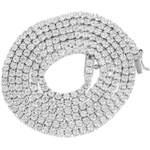 Choker White Gold Diamond chain