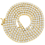 Choker Yellow Gold Diamond tennis chain