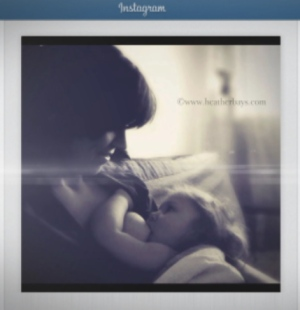 Instagram controversy photo of mother breastfeeding in Canada