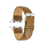 Beige Vegetable Tanned / Silver Buckle - 38mm, 40mm, 42mm, 44mm