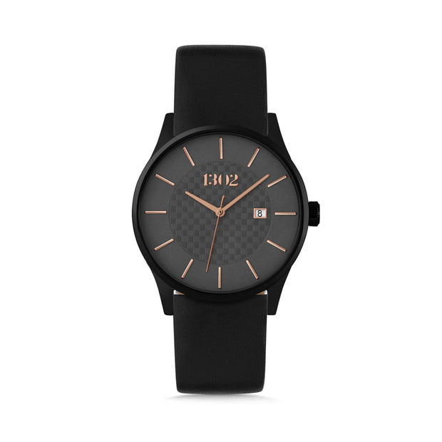 Black Case / Grey and Rose Gold Dial