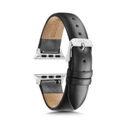 Black Strap / Silver Buckle - 38mm, 40mm
