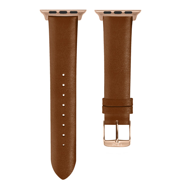 Brown Strap / Rose Gold Buckle - 38mm, 40mm
