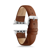Brown Strap / Silver Buckle - 38mm, 40mm