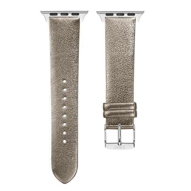 Champagne Shimmer Strap / Silver Buckle - 38mm, 40mm