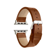 Chestnut Textured / Silver Buckle - 42mm, 44mm