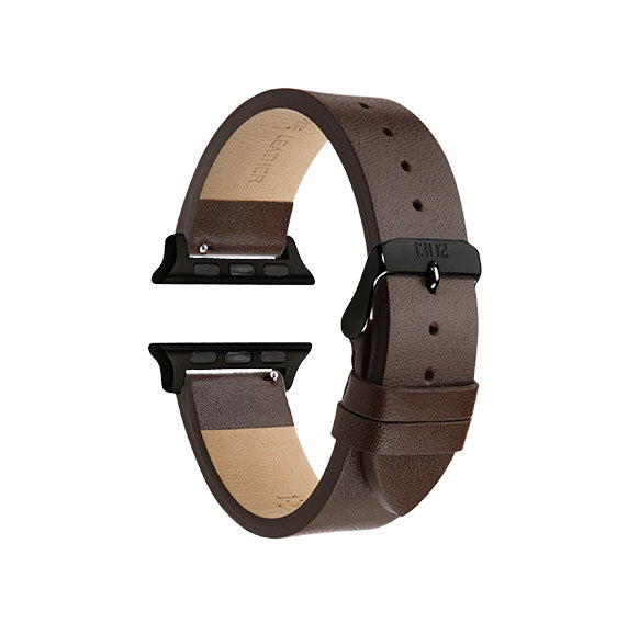Chocolate Textured / Black Buckle - 42mm, 44mm