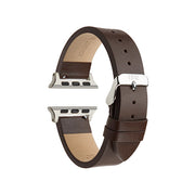 Chocolate Textured / Silver Buckle - 42mm, 44mm