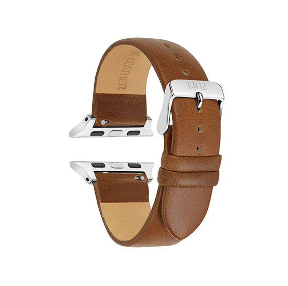 Cognac Vegetable Tanned / Silver Buckle - 38mm, 40mm, 42mm, 44mm