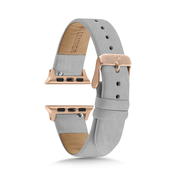 Textured Grey Strap / Rose Gold Buckle - 38mm, 40mm