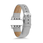 Textured Grey Strap / Silver Buckle - 38mm, 40mm