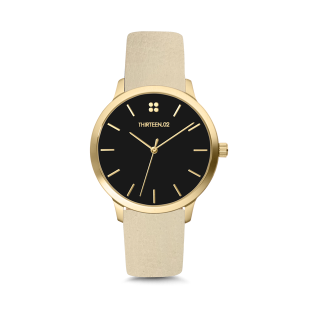 Gold Case / Black Dial