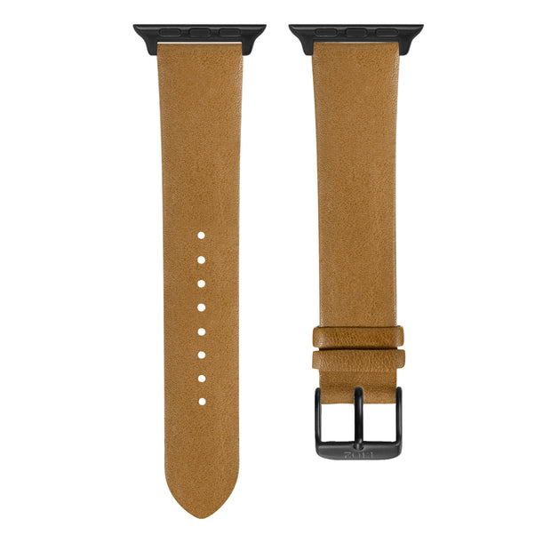 Beige Vegetable Tanned / Black Buckle - 38mm, 40mm, 42mm, 44mm