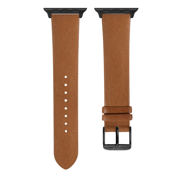 Cognac Vegetable Tanned / Black Buckle - 38mm, 40mm, 42mm, 44mm