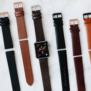 Black Vegetable Tanned / Silver Buckle - 38mm, 40mm, 42mm, 44mm