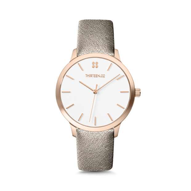 Rose Gold Case / White Dial