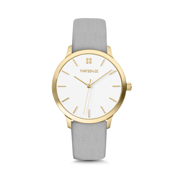 Gold Case / White Dial