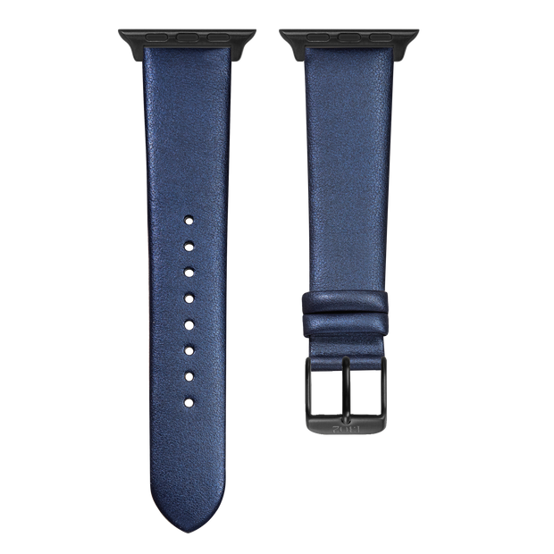 Dark Blue Shimmer Strap / Space Grey Buckle - 38mm, 40mm