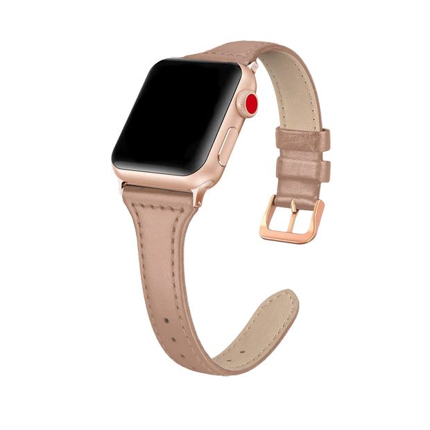 Nude Slim Strap / Rose Gold Buckle - 38mm, 40mm, 42mm, 44mm