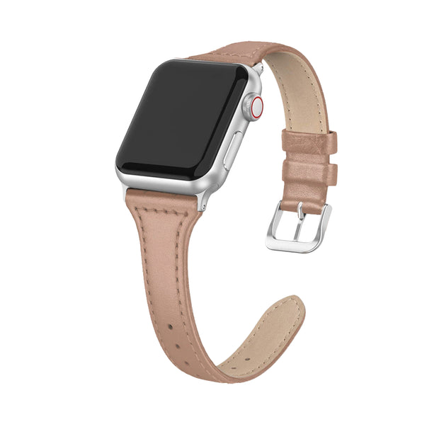 Nude Slim Strap / Silver Buckle - 38mm, 40mm, 42mm, 44mm