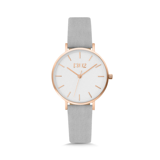Rose Gold Case / White Textured Dial