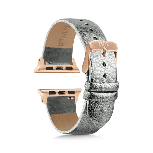 Silver Shimmer Strap / Rose Gold Buckle - 38mm, 40mm
