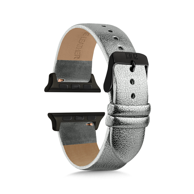 Silver Shimmer Strap / Space Grey Buckle - 38mm, 40mm
