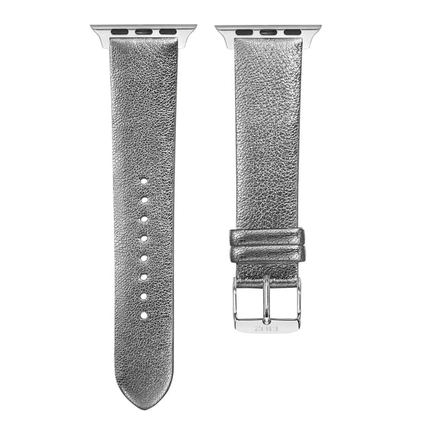 Silver Shimmer Strap / Silver Buckle - 38mm, 40mm