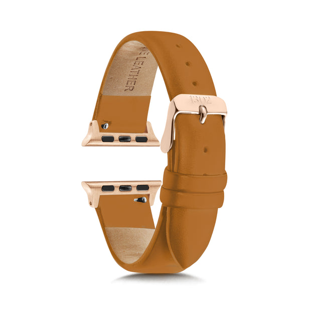 Tan Strap / Rose Gold Buckle - 38mm, 40mm